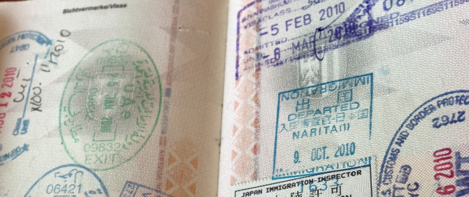 traveler's passport already pretty full